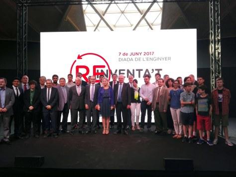 Alfons Carnicero i Míriam Febrer, del grup de recerca BIOMEC, han estat premiats pel Col·legi d'Enginyers Industrials de Catalunya