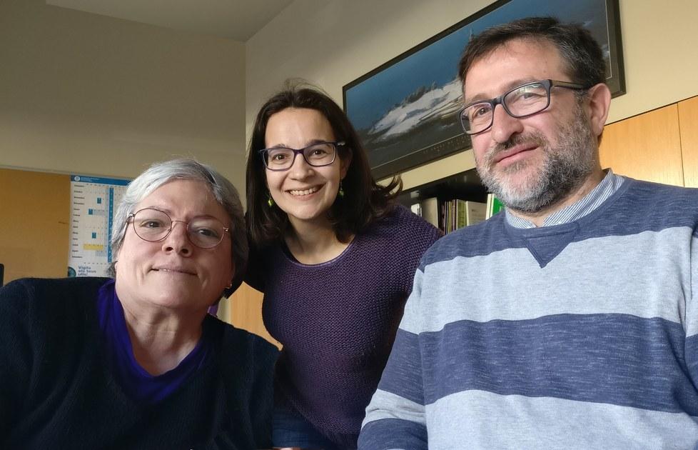 L'equip de professors del Departament d'Enginyeria Mecànica: Lluïsa Jordi, Rosa Pàmies i Joan Puig