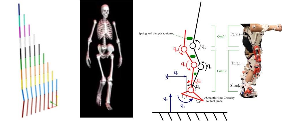 Se ha utilizado el método desarrollado en simulaciones del movimiento de péndulos, de movimiento de la marcha humana y del movimiento colaborativo entre persona y exoesqueleto.